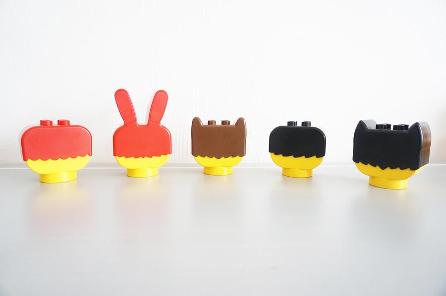 レトロなレゴの後ろ