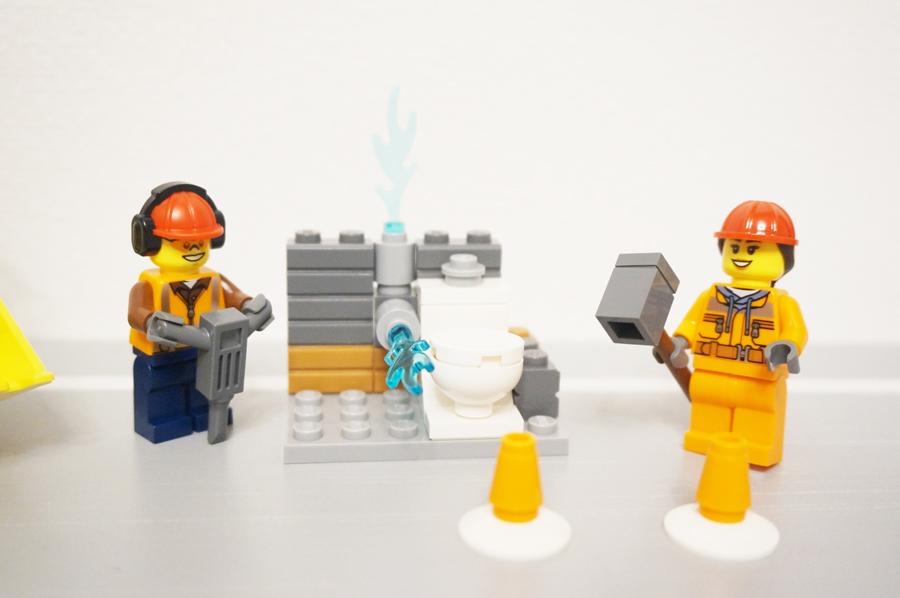 トイレの解体工事レゴ