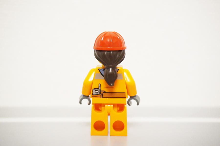 ミニフィグ建設作業員の女性