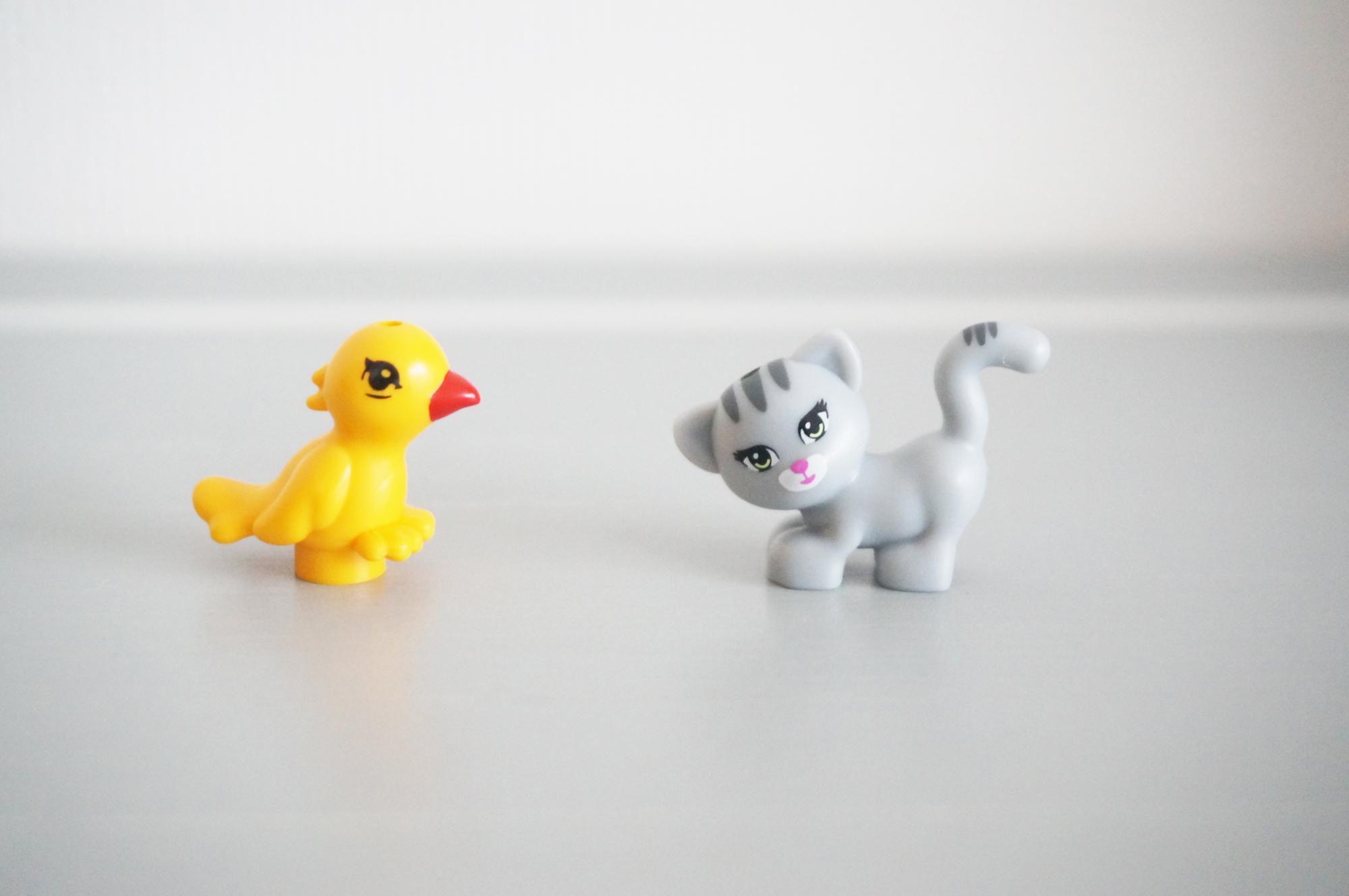 レゴフレンズの鳥と猫