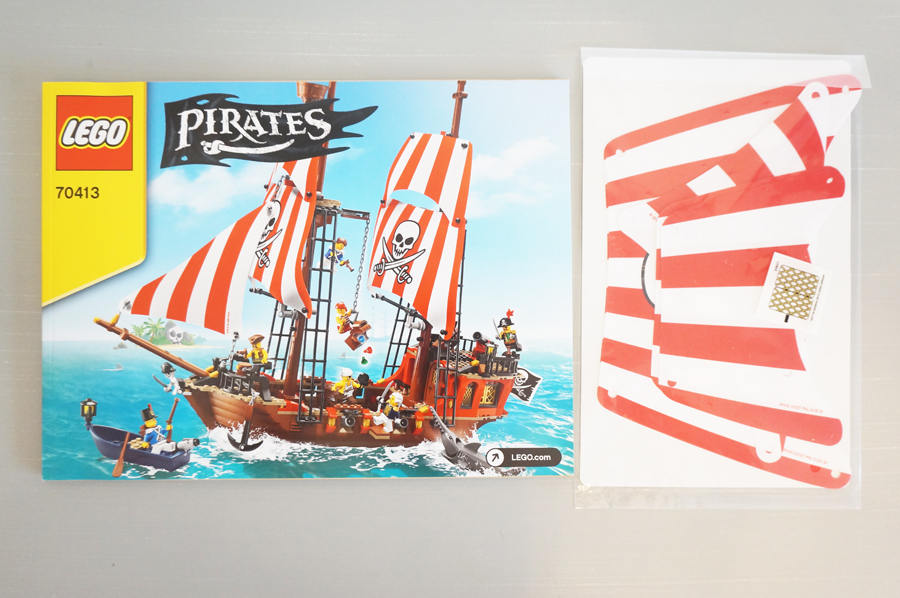 70413のインストと海賊船の帆