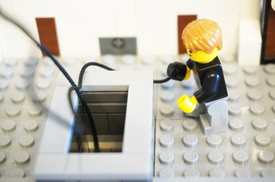 レゴ銀行強盗侵入