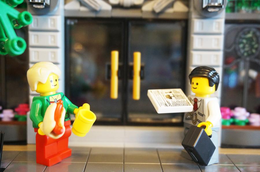 レゴ銀行に出勤