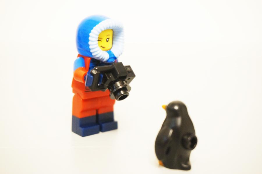 レゴミニフィグ野生生物写真家とペンギン3