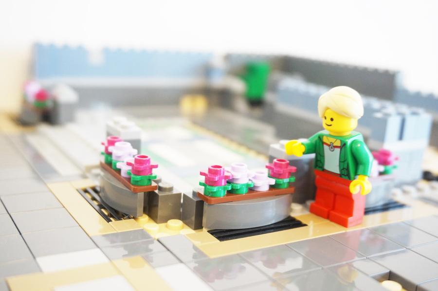 レゴ銀行の花壇