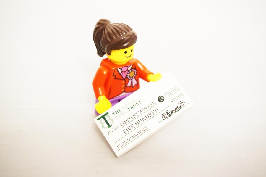 レゴ銀行小切手