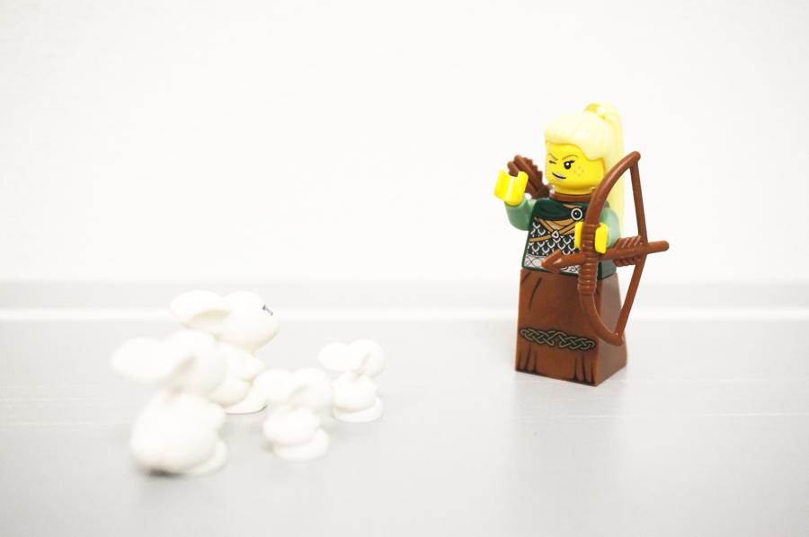 レゴうさぎ狩り