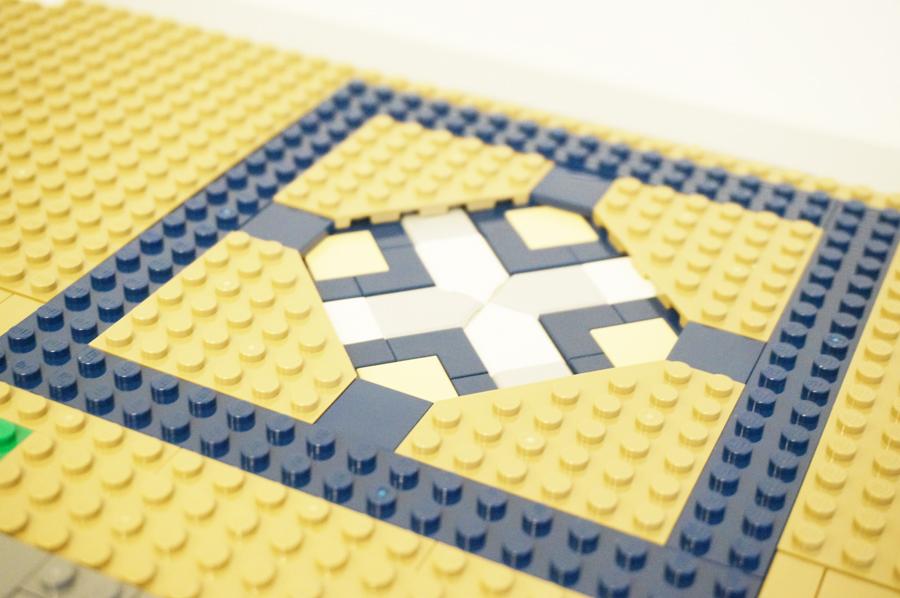 レゴディズニーキャッスルの床の模様