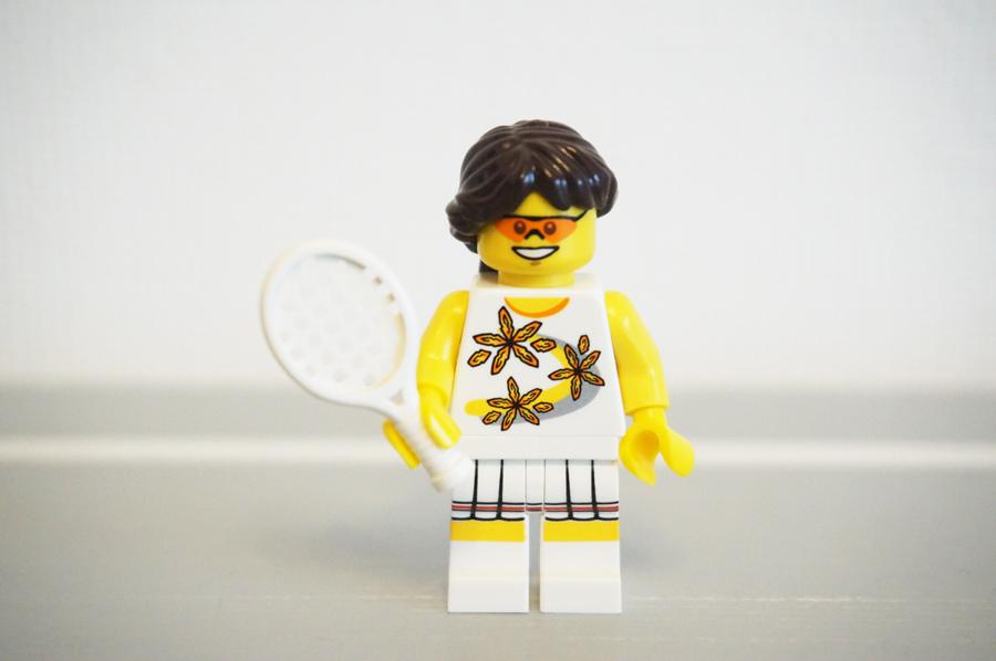 テニスプレイヤーのミニフィグ