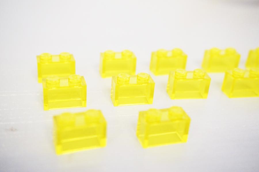 レゴクリスマスオーナメントの透明ブロック