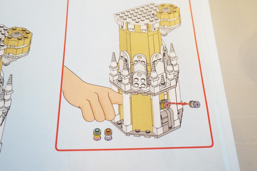 レゴシンデレラ城のギミック