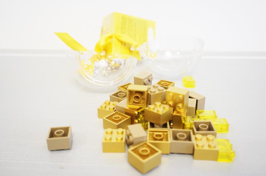 レゴクリスマスオーナメントの中のブロック