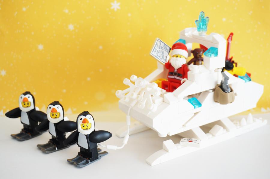 レゴのサンタさんのソリ