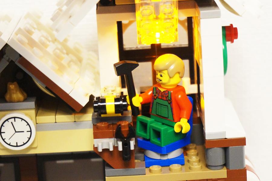 10249レゴ冬のおもちゃ屋さんライトブロック