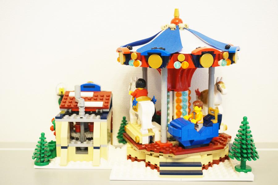 LEGO10235 ウインターヴィレッジマーケットのメリーゴーランド