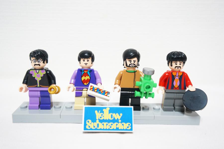 レゴ21306イエローサブマリンのビートルズメンバーのミニフィグ