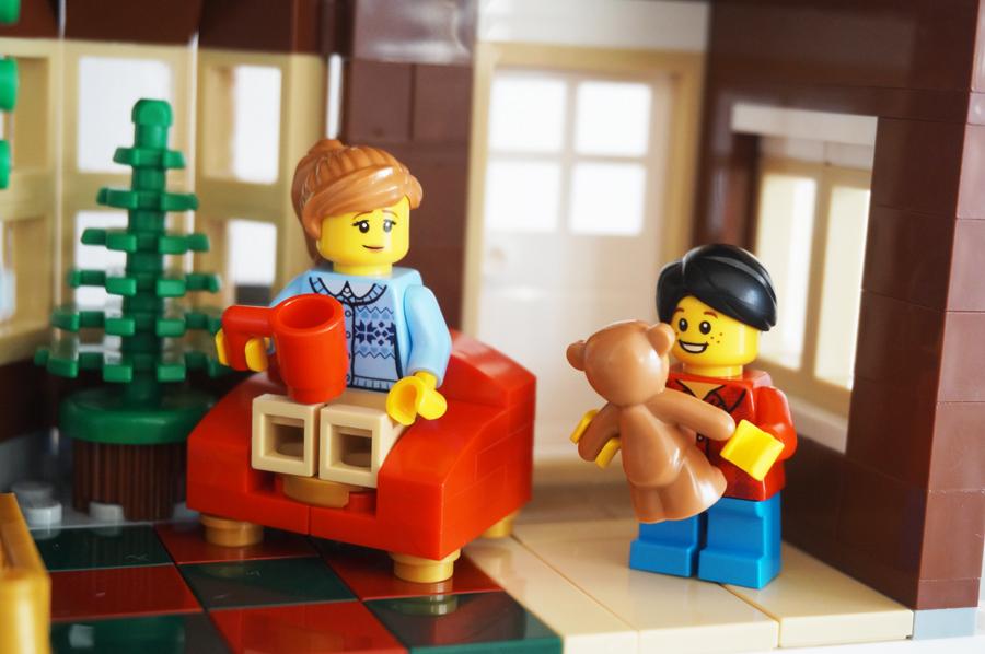 レゴクリスマスの家