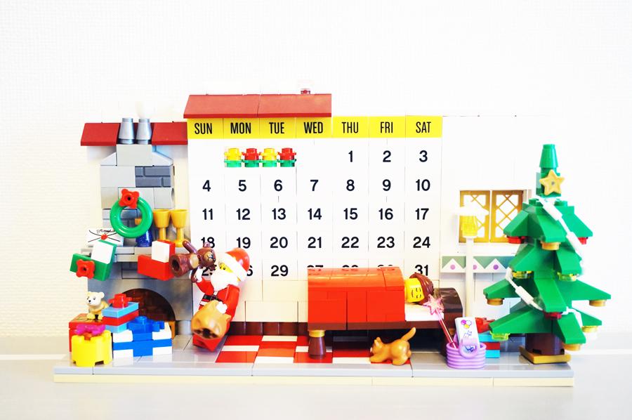 レゴの12月のカレンダー