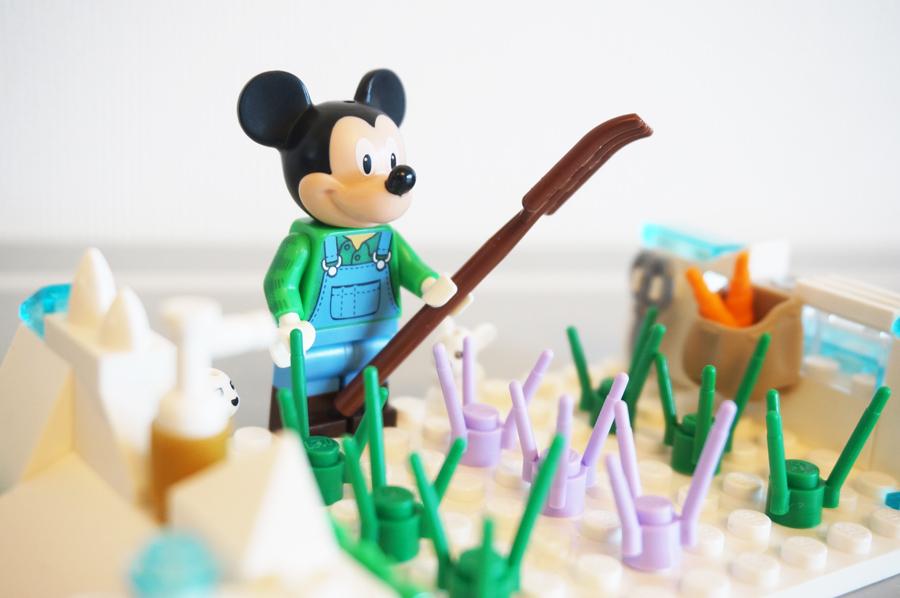 レゴで冬の畑