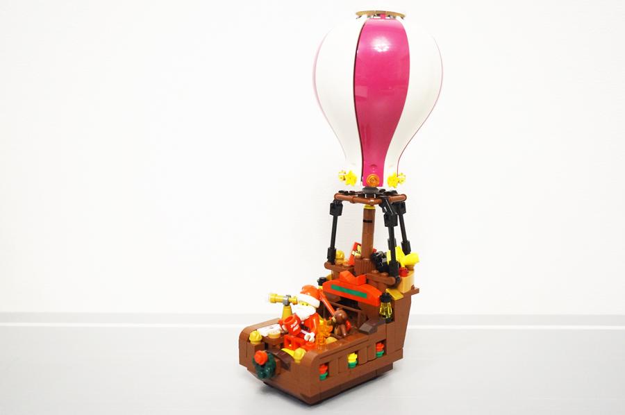 レゴ気球のサンタさんのソリ