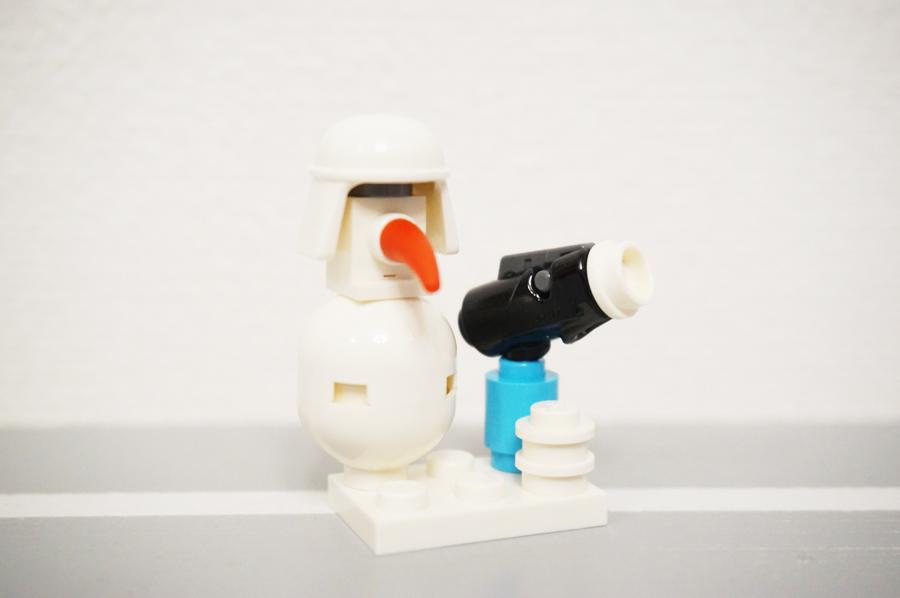 レゴ雪だるま