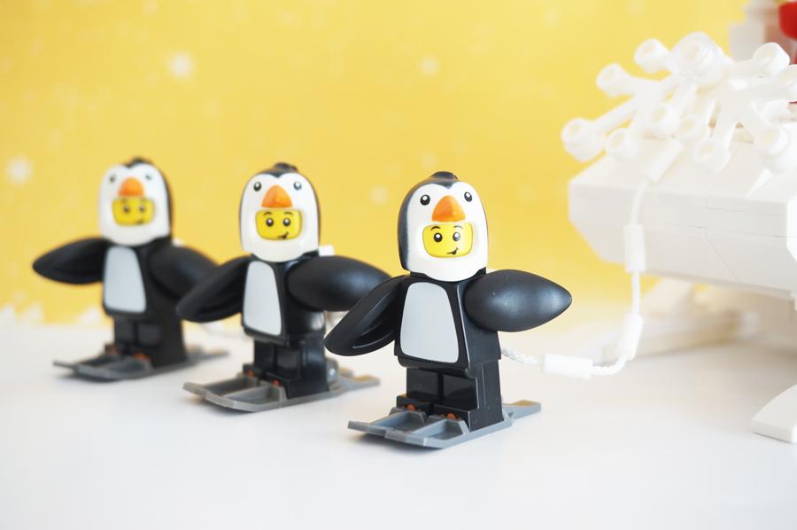 レゴミニフィギュアペンギンの着ぐるみ