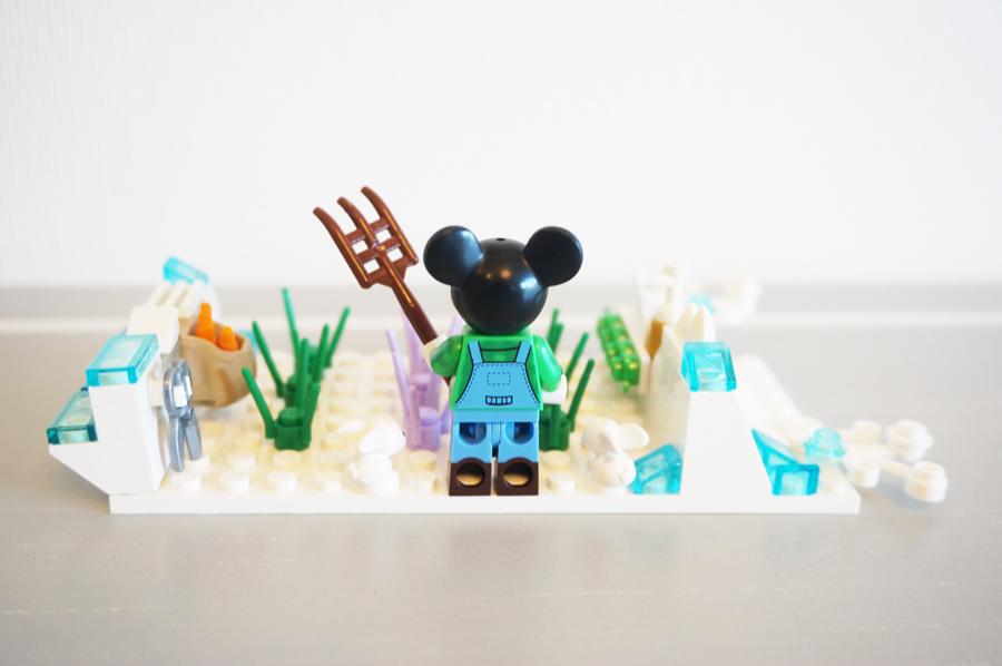 レゴでミッキーの冬の畑