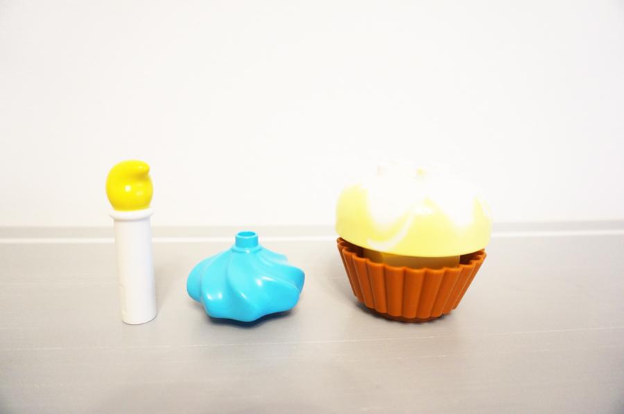 レゴデュプロのカップケーキ(アイスクリーム)パーツ