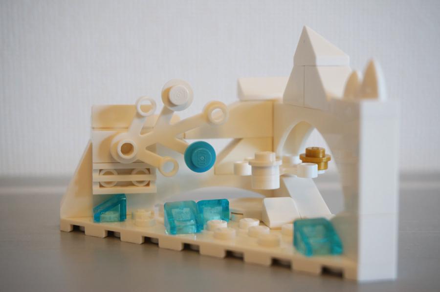 レゴの冬の庭