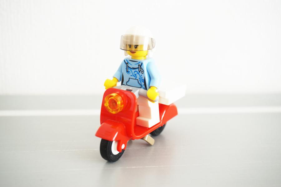 60150レゴシティピザショップトラックのバイク