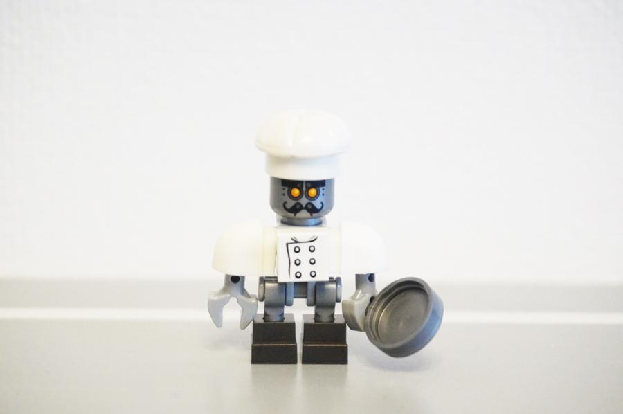レゴネックスナイツ料理長コックさんのミニフィグ