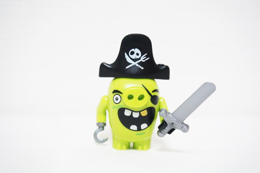 75825 レゴアングリーバード ピギーの海賊船キャプテンのミニフィグ