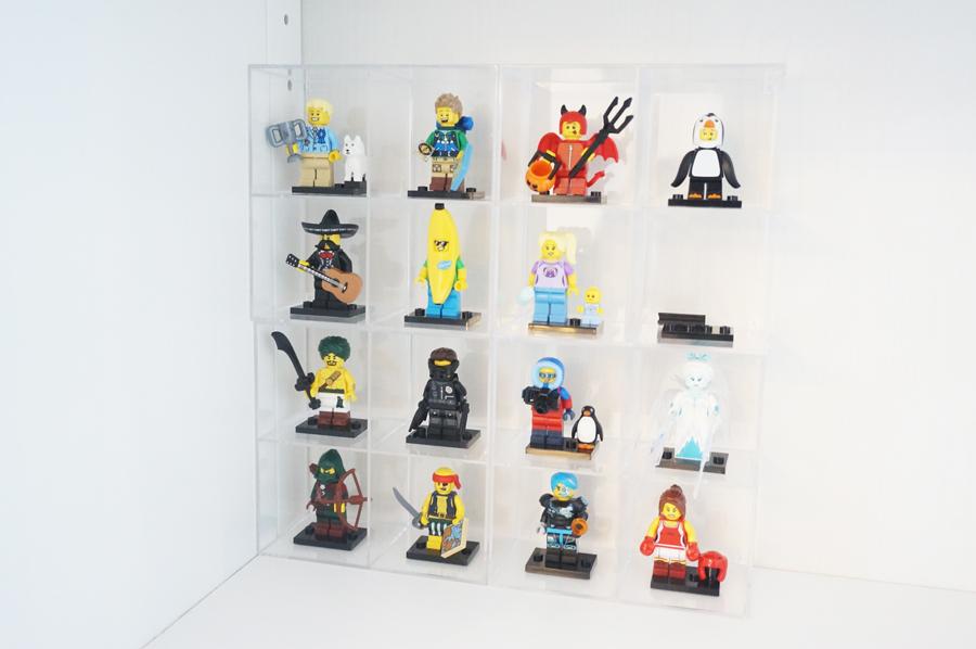 ミニフィグの収納セリアのコレクションケース