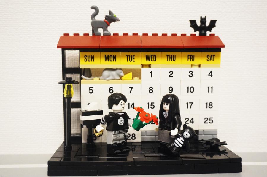レゴの2月のバレンタインカレンダー