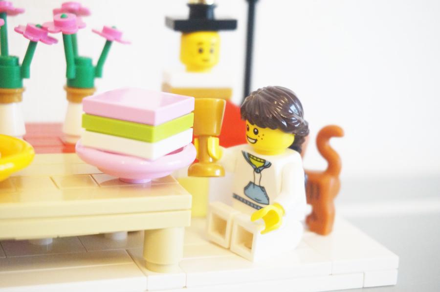 ひな祭りの菱餅のレゴ