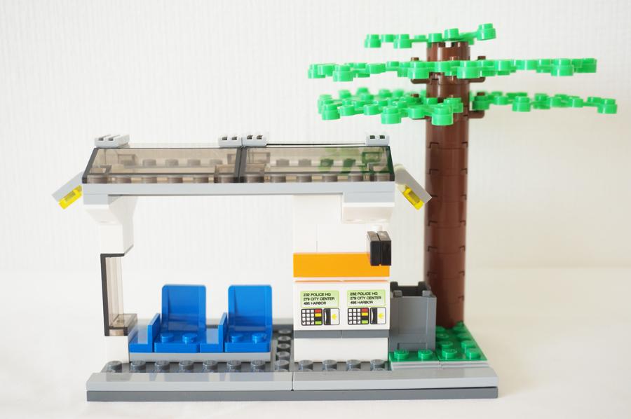 60097レゴシティのまちトラムの駅