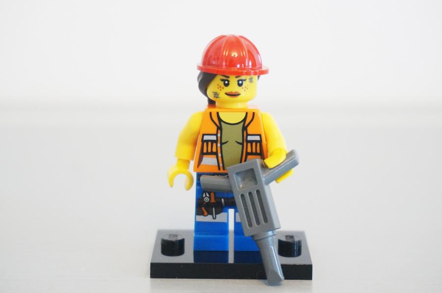 7100471004レゴミニフィギュアレゴムービーシリーズ建設作業員ゲイル