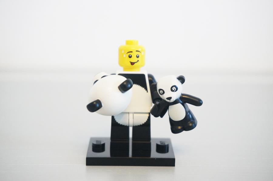 7100471004レゴミニフィギュアレゴムービーシリーズ着ぐるみパンダ