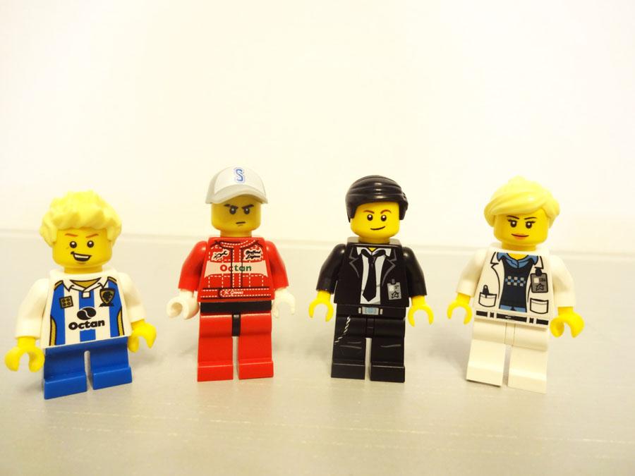 レゴの組み合わせて作るミニフィグ