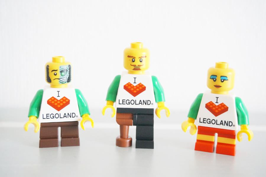レゴランドミニフィギュアマーケットのレゴランドトルソーのミニフィグ