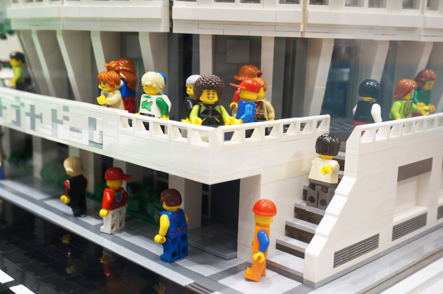名古屋芸術大学地域交流センターレゴのジオラマ