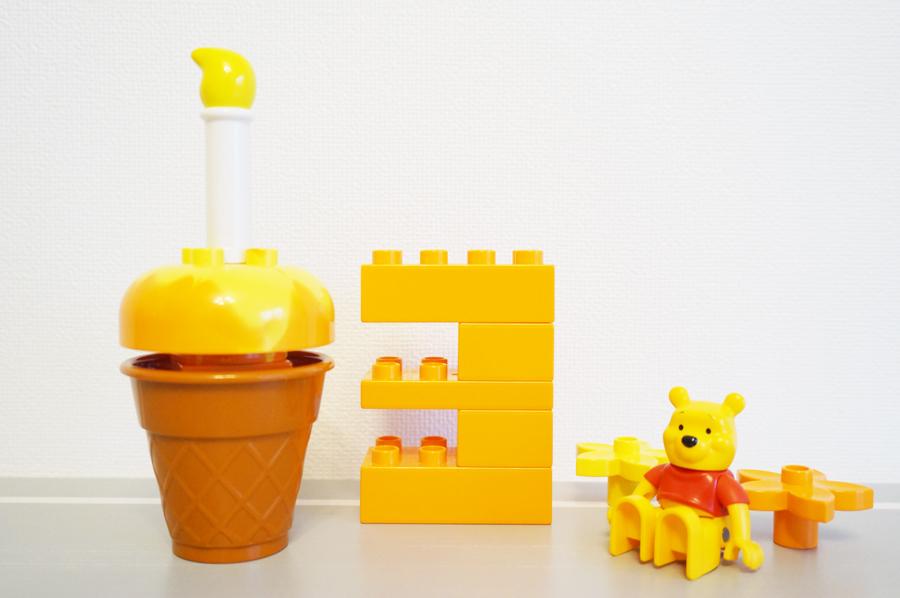 生後3か月の記念レゴ