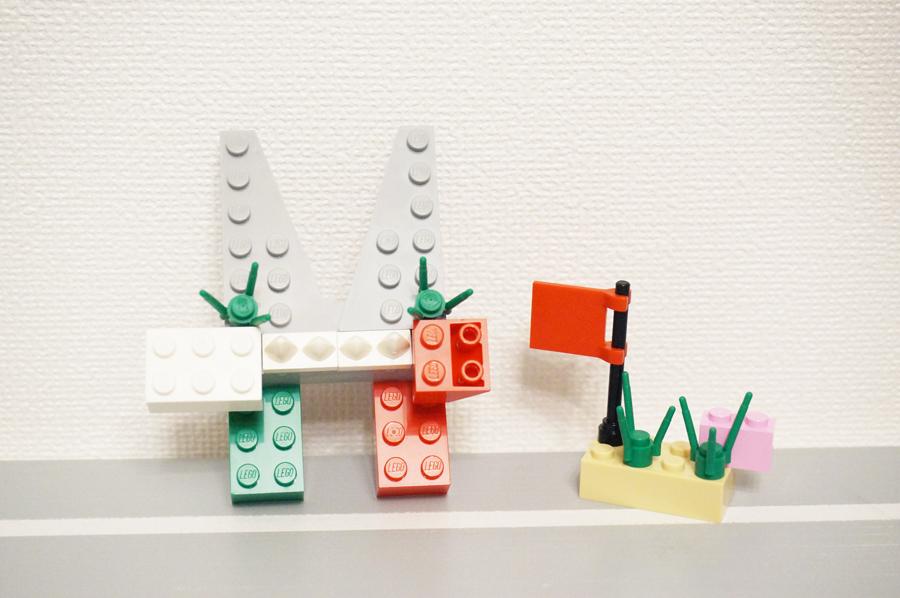 レゴのうさぎと鳥