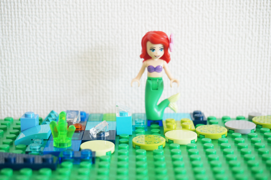 レゴで作ったリトルマーメイドのunder the sea