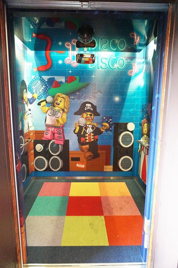 レゴランドホテルのエレベーター